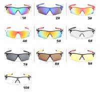 Wholesale Men Cycling Sunglasses Brand Designer Sun Glasses Outdoor Sport Glasses UV Protection Fashion Dazzle Colorful Riding Sunglasses MN9181