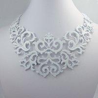 art nouveau decoration - New Fashion Court White Chain Art Nouveau decoration Bib Necklace Pendant
