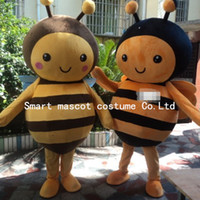bee movie costumes - 0519 adult lovely bee mascot costume with mini fan inside the head for sale