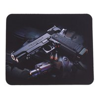 Wholesale Gun Picture Anti Slip Lap PC Mice Pad Mat Mousepad For Optical Laser Mouse
