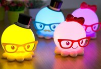 Wholesale New special Octopus LED night light rechargeable children s cartoon fashionable octopus bedside lamp creative