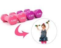 Wholesale Kg Plastic Dip Multicolour New dumbbell Household child s Fitness Dumbbell kylin sport