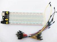 Wholesale 3 V V MB102 Breadboard power module MB points Solderless Prototype Bread board kit Flexible jumper wires
