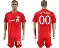 Wholesale toronto fc soccer jersey football uniform home away men kits jerseys uniforms man discount shirts onsale cheap shirt red with shorts