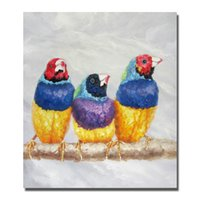 abstract bird paintings - Wall Art Home Decor Living Room Wall Pictures Lovely Birds Oil Painting Modern Abstract Animal Paintings Peices No Framed