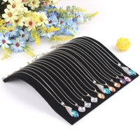 arc stand - New Black Velvet Arc shaped Necklace Bracelet Pendant Show Display Jewelry Stand Holder Showcase Practical