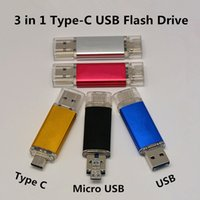 Wholesale 8GB GB GB GB Type C OTG USB Flash Drive For Macbook Air Galaxy s7 Nokia N1 Tablets PC USB3 Type C To Type A USB C Pen drive