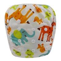 bamboo swim - Ohbabyka Bamboo Swim Diapers Washable Baby Swim Nappy Pants Reusable Baby Diapers Breathable Newborn Baby Swimsuit One Size