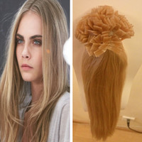 Cheap Prebonded remi hair extensions straight prebonded hair extensions 1g 100% Real Human Hair U I Flat Tip grade 8A customized