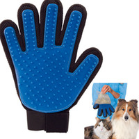 Wholesale dogs Massage Bathing Glove Gentle Efficient Pets Grooming Dog Grooming True Touch Glove Cats Brush Comb Hair c