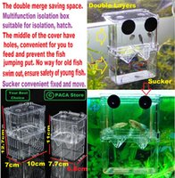 Wholesale Aquarium Fish Breeding Hatchery Young Fish Incubator Isolation Box The double merge saving space