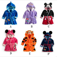 Wholesale 2016 New Autumn Winter Children Clothes Fleece Robe Minnie Mickey Boy Gril Mouse Kids Homewear Fashion Baby Casualhome Cartoon Nightgowns