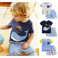Wholesale Branded Cotton Baby Boys Clothing Toddler Children Suits Summer Baby Kids Clothes Clothing Sets Short Sleeve Boys