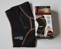 Wholesale Copper Fit PLUS Knee Compression Sleeve with Zipper In EXTENDED SIZES For Men Women