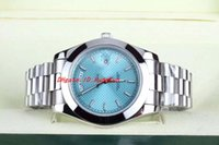 automatic ice - 2016Luxury High Quality Brand Watch Ice blue oblique Plaid Luminescent Asia Movement Automatic Mens Men s Watches