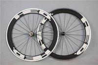 Wholesale 2014 new mm Alloy Carbon Wheelset C Aluminum Brake Surface Hed carbon Road bike bicycle Wheels DT spokes