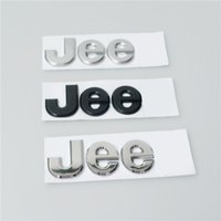 abs decals - Individual Jee Metal Car Decals for Jeep Quality Guranteed Black Silver ABS Car Stickers Size cm
