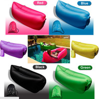 Wholesale Free DHL Outdoor Instantly Inflatable Hangout Lounge Portable Beach Chair Air Sofa Bag