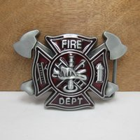 Men alloy department - BuckleHome fire fighter belt buckle fire department belt buckle with pewter plating FP