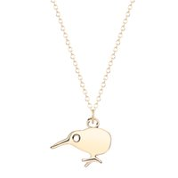 animal dna - Tiny Dainty Bird Kiwi Necklace Animal Kiwi Necklace DNA Necklace Pendant Chain For Women Summer Jewelry bib Collar Necklace