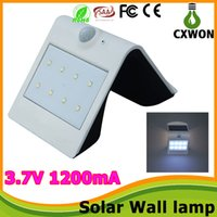 Cheap Solar lamps led wall lights Sensor Outdoor Garden Wall lamps Security Lamp Night Light Outdoor Landscaping Deck Yard Garden Home Driveway