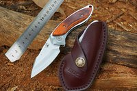 Wholesale New Buck outdoor Camping hunting knives self defense survival pocket knife Rosewood handle rescue Pocket Knives