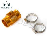 Wholesale 36MM quot Water Temp Gauge Radiator Sensor Adaptor Attachment Aluminum Gold Blue Red Silver Instruments