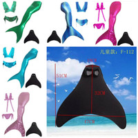 Wholesale Girls Kids Tops Panties Mermaid Tail for Swimming with Mono fin Swimmable wear Cosplay Costumes