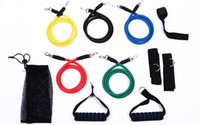 abs chart - 11Pcs Set resistance bands Latex ABS Tube Resistance Band Set with Door Anchor Ankle Strap Exercise Chart Resistance Band Carrying Case