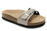 beach wood homes - New Birkenstock beach Sandals Cork Slippers women sandals Genuine Leather Summer Platforms Flats Home Slippers size