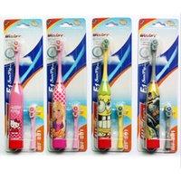 Wholesale Super Cute Cartoon Children Kid Kids Sonic Vibration Electric Toothbrush Teethbrush Extra Replacement Toothbrush Head