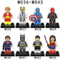 best wonder woman - 2016 New M036 M043 Hot Movie DC Super Heroes Batman Vs Superman Minifigure Wonder Woman Superman Red skull Brick Best Children Gift