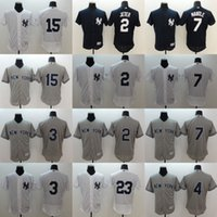 Wholesale Men s Elite Version New York Yankees Derek Jeter Lou Gehrig Mickey Mantle Don Mattingly Baseball Stitched Jerseys