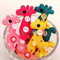 baby african animals - 2016 Fawn children kids baby girls hair accessories hair clip hairpins barrettes headwear deer shape Retail Luxury DHF081