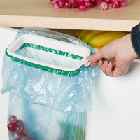 Wholesale Hanging Kitchen Cupboard Door Back Stand Trash Garbage Bag Storage Rack Rated