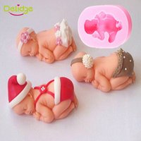 baking baby food - 1 Cute Sleeping Baby Cake Mold Food grade Silicone D Baby Cake Decoration Mold Soap Mold Fondant DIY Baking Tools