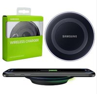 Wholesale 100 Original Qi Wireless Charger Charging Pad for SAMSUNG Galaxy S6 G9200 S6 Edge Plus G9250 G920 S7 Edge Note