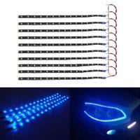 Wholesale 10Pcs Cm LED Car Truck Motors Flexible Strip Light Lamp Waterproof Blue