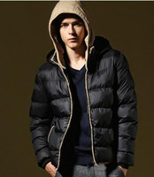 Wholesale 2016 Winter new brand Fashion loose thick warm slim men s Winter coat jackets men s Outwear Cotton padded clothes sweater