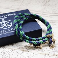 anchor packaging - Handmade Jewelry Men s Anchor Bracelets Friendship Nautical Anchor Sailor Rope Bracelet With Box Package