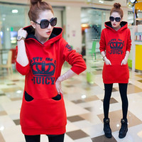 Wholesale 5 Colors Long Casual Spring Autumn Women Coat Red Black Causal velvet Slim Long Sleeve Pullovers Sweater