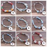 antique glass buttons - Fashion Antique Alloy Beads Glass Beads Charms European Bracelet Mix Color Fits MM Snap Buttons Slave Bracelet E826L