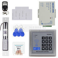 Wholesale Access Control System DIY Full Kit Set RFID Keypad Electric Drop Bolt Lock Remote Control K2000