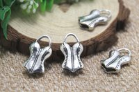 antique corset - 6pcs Corset Charms Antique Tibetan silver D Corset Charms pendants x13mm