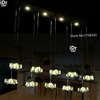 bars crystal store - Star Romantic Bar light LED crystal lamp creative art of modern coffee shop clothing store chandelier High end European style