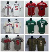 baby baseball uniforms - Flexase Freddie Freeman Jersey Atlanta Braves Baseball Jerseys Freddie Freeman Uniforms Cooperstown Cream White Baby Blue New Red