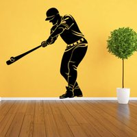 baseball bedroom wallpaper - high quality Fashion Waterproof Vinyl Baseball Wall Decoration for Living Room Removable Wall Sticker for Boys Bedroom