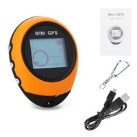Wholesale PG03 Mini GPS Receiver Navigation Handheld Location Finder USB Rechargeable with Compass for Outdoor Sport Travel