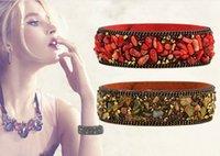Wholesale 7colors Collectibles Korean velvet microfiber gravel bracelet bracelet natural crystal bracelet multicolor Paris fashion model show