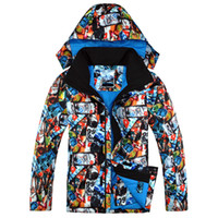 Wholesale Man Ski Jacket Gsou Snow Band Super Warm Windproof Waterproof Snowboard Skiing Single and Double Plate New Male Clothing New